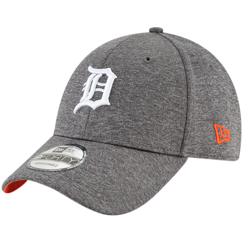 Detroit Tigers New Era Shadow Side 9FORTY Adjustable Hat - Graphite - OSFA