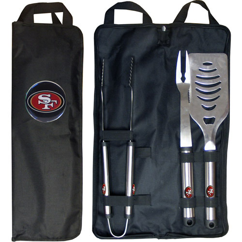 NFL 3-Piece BBQ Set with Canvas Case, San Francisco 49ers