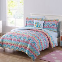 Mainstays BoHo Life 8 Pc Queen Comforter BIAB - Teal/Pink