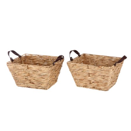 Better Homes & Gardens Water Hyacinth Rectangle Basket Set, 2 Count