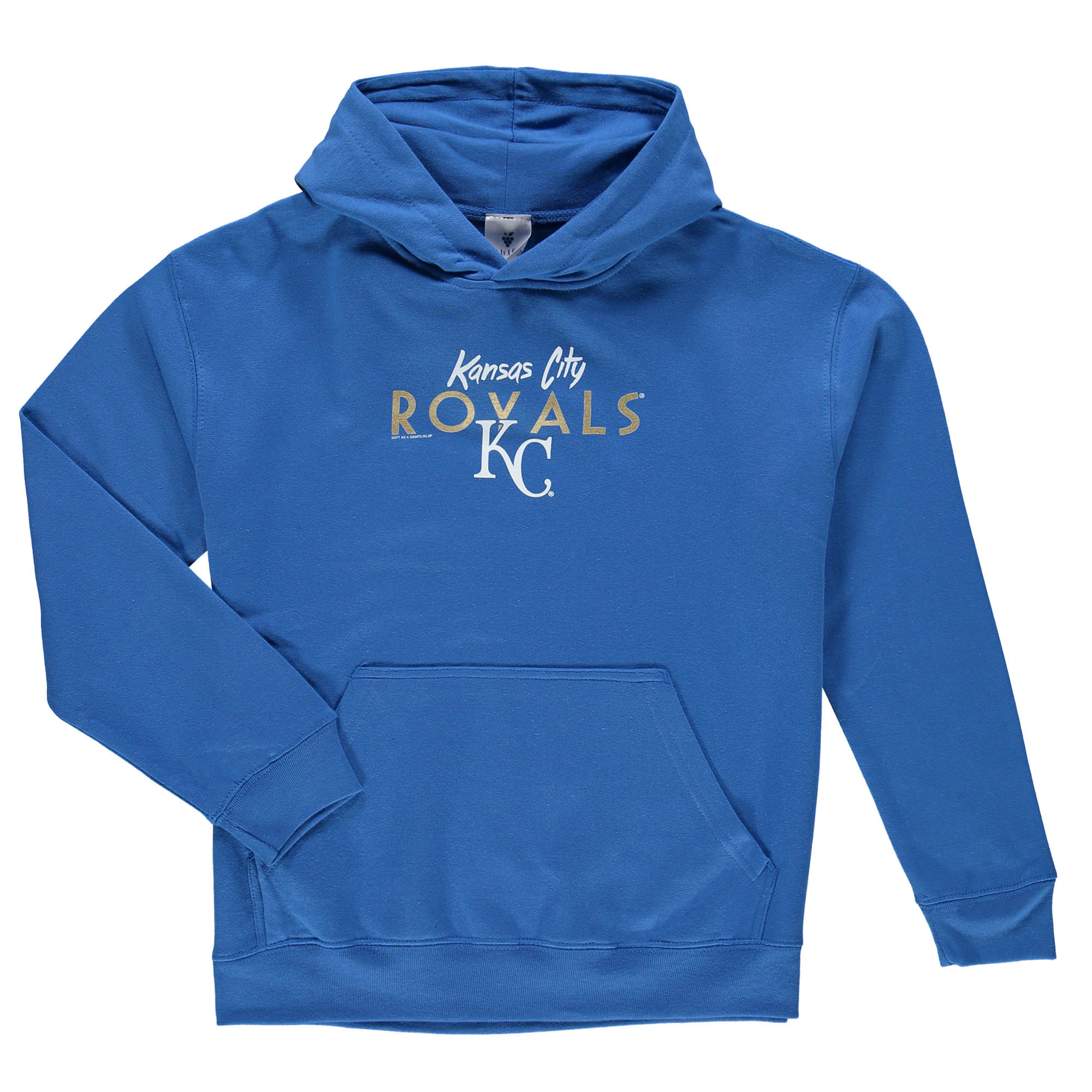 Kansas City Royals Soft as a Grape Youth Around the Horn Hoodie - Royal