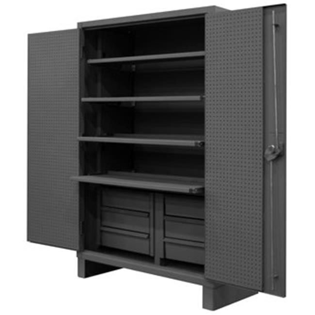 Durham HDCDP244878 4SS6B95 78 In. 12 Gauge Cabinets With Drawersu0026#44; Gray