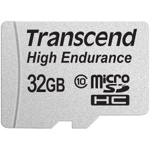Transcend High Endurance 32 GB microSDHC - Class 10 - 21 MB/s Read - 20 MB/s Write