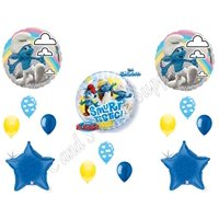 Smurf Smurfette Movie Bubble Birthday Party Balloons Decorations Supplies Clouds