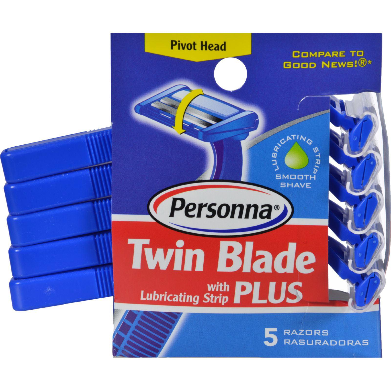 American Safety Razor Personna  Twin Blade Plus Razors, 5 ea