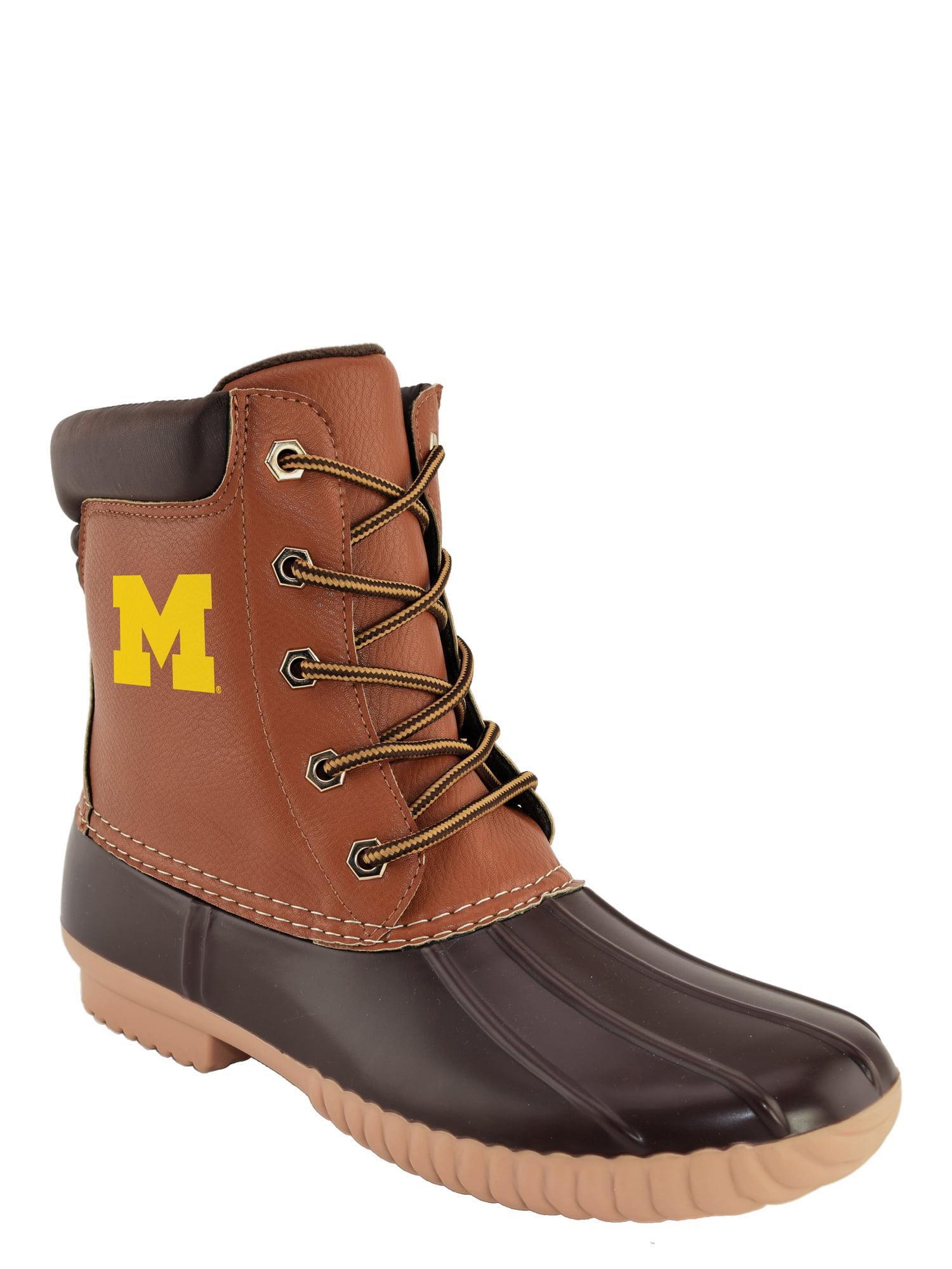 NCAA Men's Michigan -Duck Boot by RENAISSANCE IMPORTS INC