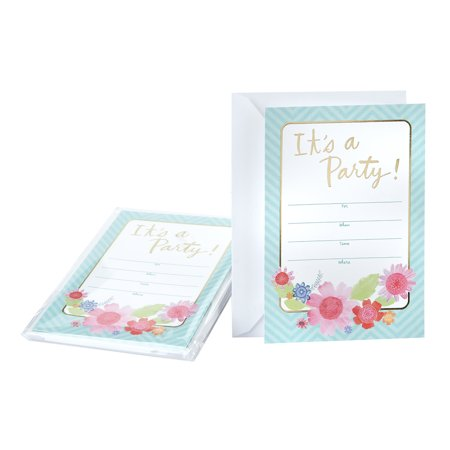 Paint Party Invitations (Hallmark Party Invitation Cards (Floral)