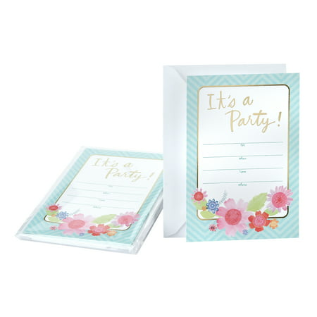 Hallmark Party Invitation Cards (Floral Design)](Save The Date Halloween Party Invitations)