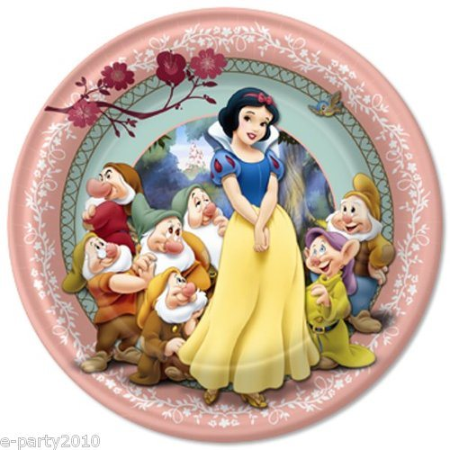 Snow White and the Seven Dwarfs Large Paper Plates (8ct)