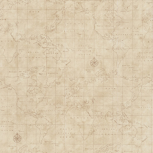 Map Toile Wallcovering