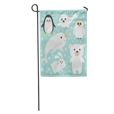 Harp Seal Kids (LADDKE Arctic Polar White Bear Owl Penguin Seal Pup Baby Harp Hare Rabbit Narwhal Unicorn Fish Kids Garden Flag Decorative Flag House Banner 28x40 inch )