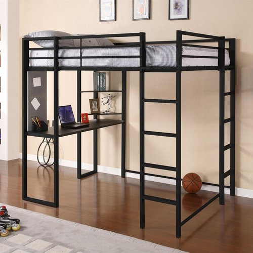 Mack & Milo Aime Full Loft Bed with Bookcase