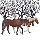Horse Napkin (Paperproducts Design Cocktail Napkin (Pack of 20), Winter Solstice, Horse)