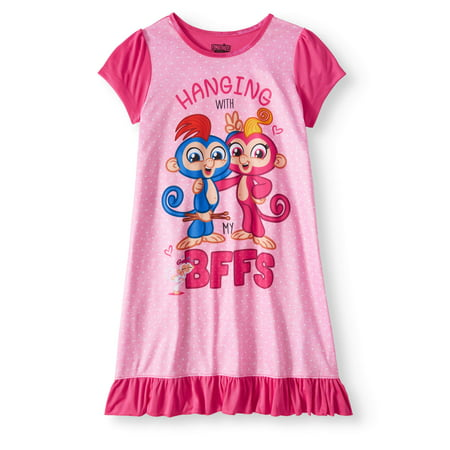 Girls' Fingerlings Pajama - Girls Nightgown Cotton