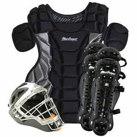 Catchers Gear Locker - MacGregor Varsity Catcher's Gear Pack in Black/Silver (Ages 15+)