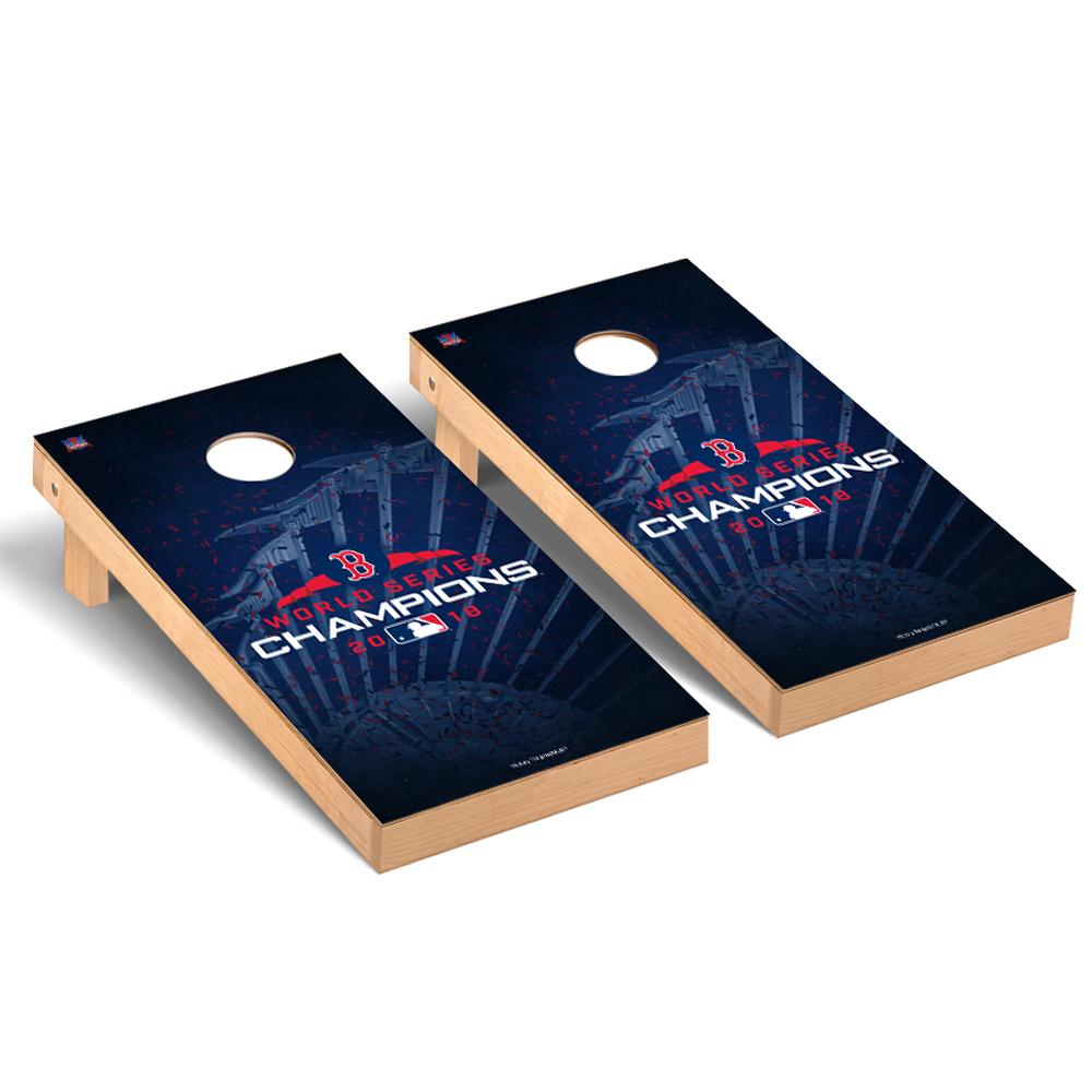 Boston Red Sox 2018 World Series Champions Trophy Design Regulation Cornhole Board - No Size