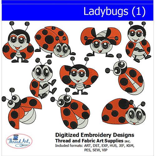 Threadart Machine Embroidery Designs Ladybugs (1) CD