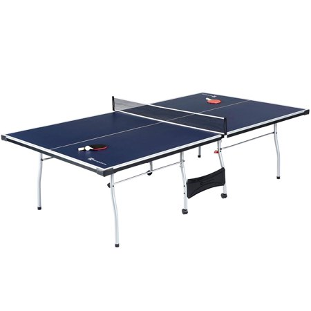 Md sports official size table tennis table with paddle - Measurements of table tennis table ...