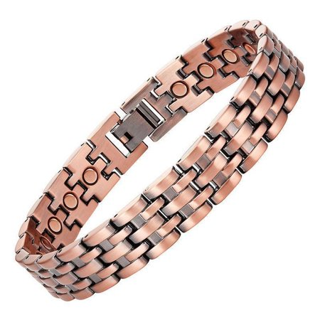 Copper Link Magnetic Bracelet For Men Pisa 9 5 Inches Mens Extra Long Large Size