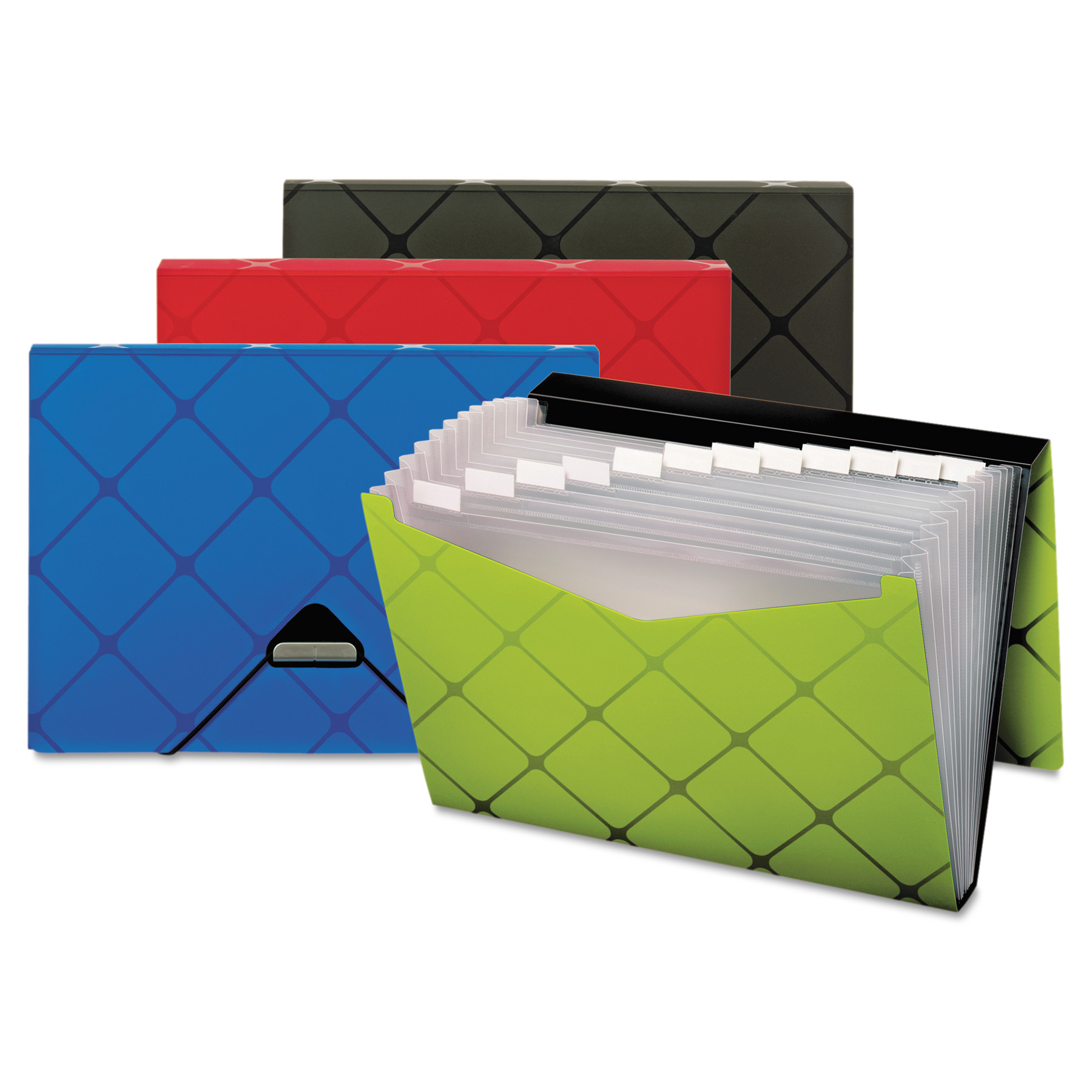 Pendaflex Poly Expanding File, 13-Pockets, 1/3 Tab, Letter, Assorted