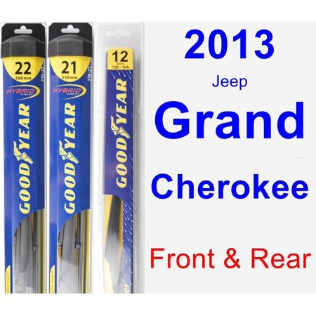 2013 Jeep Grand Cherokee Wiper Blade Set/Kit (Front & Rear) (3 Blades) - Rear