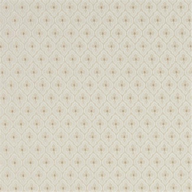 Designer Fabrics A468 54 in. Wide Beige And Ivory Diamond Clover Leaf Upholstery Fabric