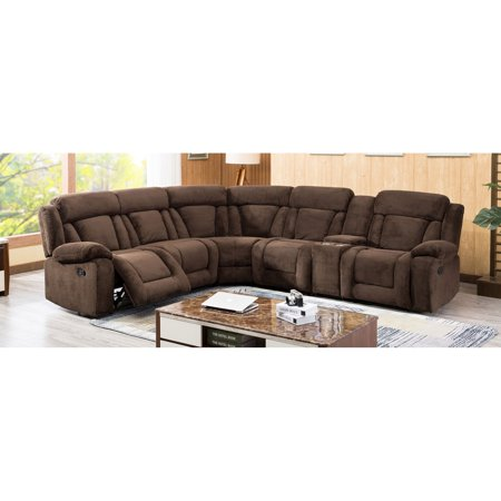 Milton Greens Stars Emerald Sectional With 3 Recliners And Console