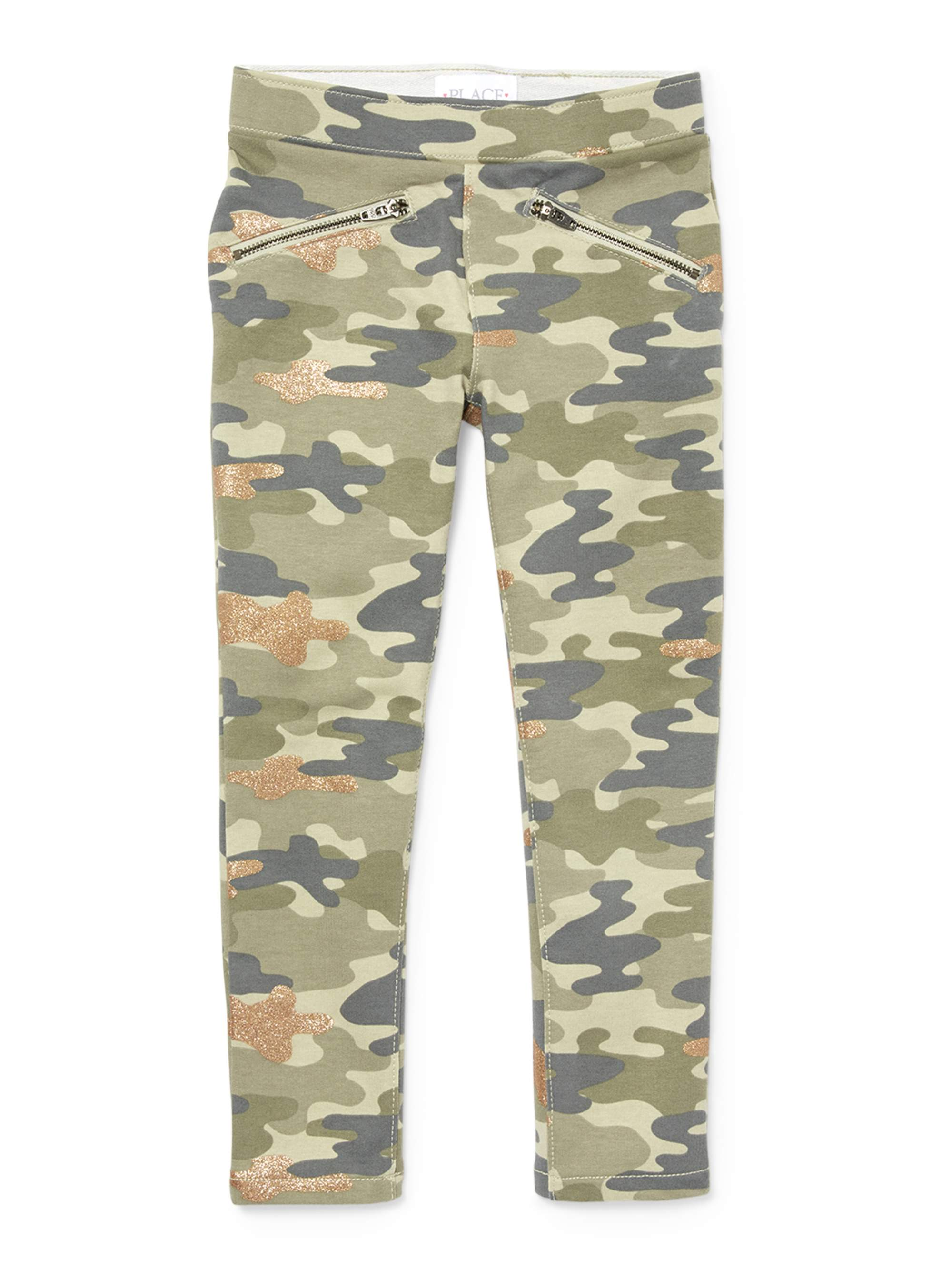 The Children's Place Camo French Terry Glitter Jegging