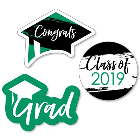 Green Grad - Best is Yet to Come - DIY Shaped 2019 Graduation Party Cut-Outs - 24