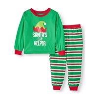 Matching Family Christmas Pajamas Toddler Boy or Girl Unisex 2-Piece Santa's Lil Helper Set