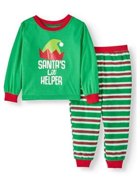 Jolly Jammies Toddler Boy Girl Unisex Matching Family Christmas Pajamas, 2pc Set