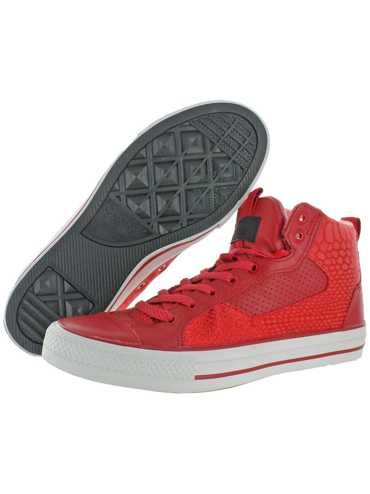 Converse Mens Chuck Taylor Asylum Mid Mid Fashion Skate Shoes Red 10 Medium (D)