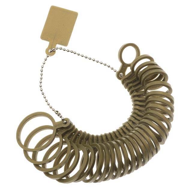 Plastic Ring Sizer, Great For Jewelry Shows & Custom Fit -Standard/Metric