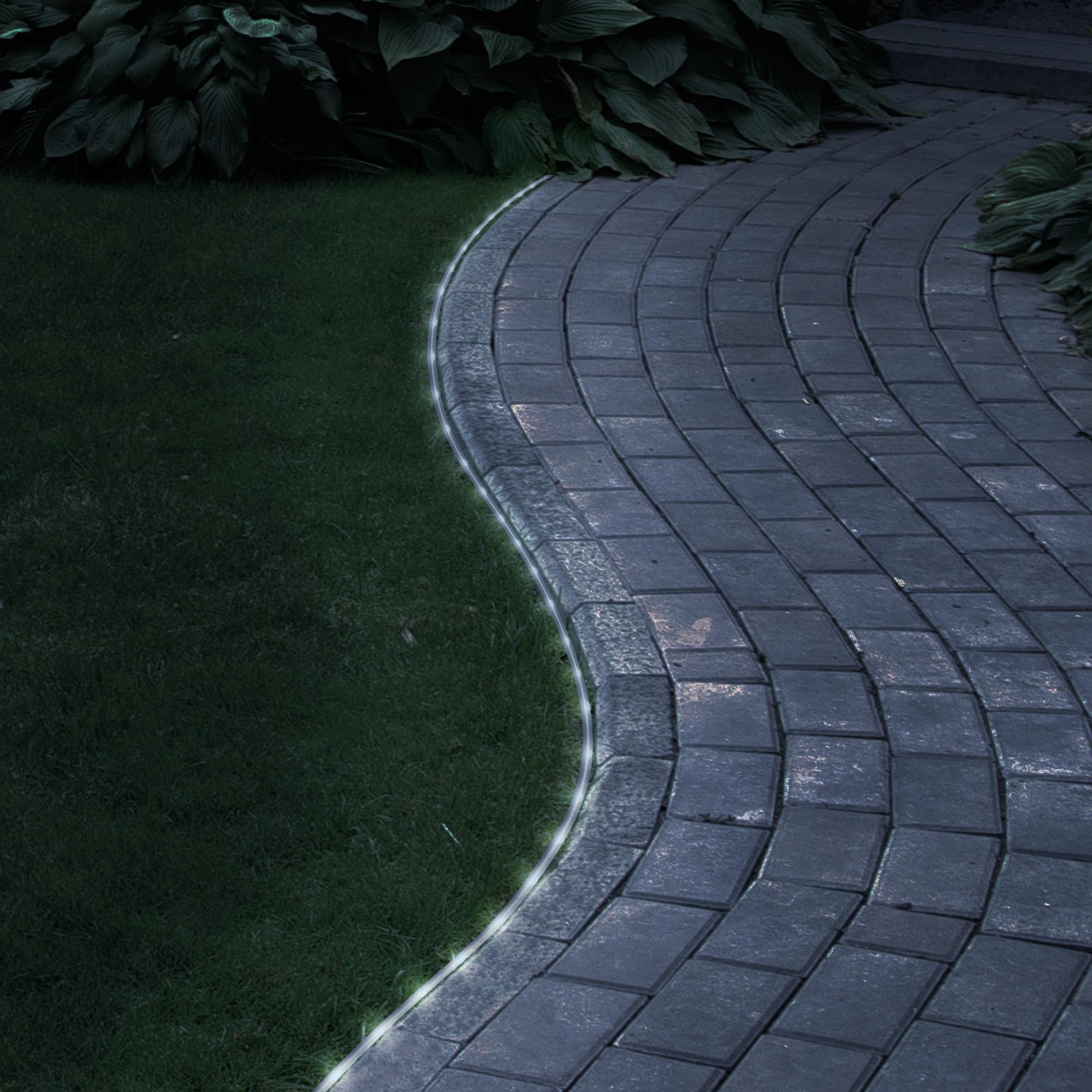 Solar LED Rope Light - 32 Feet - 100 White LED Lights by Pure Garden