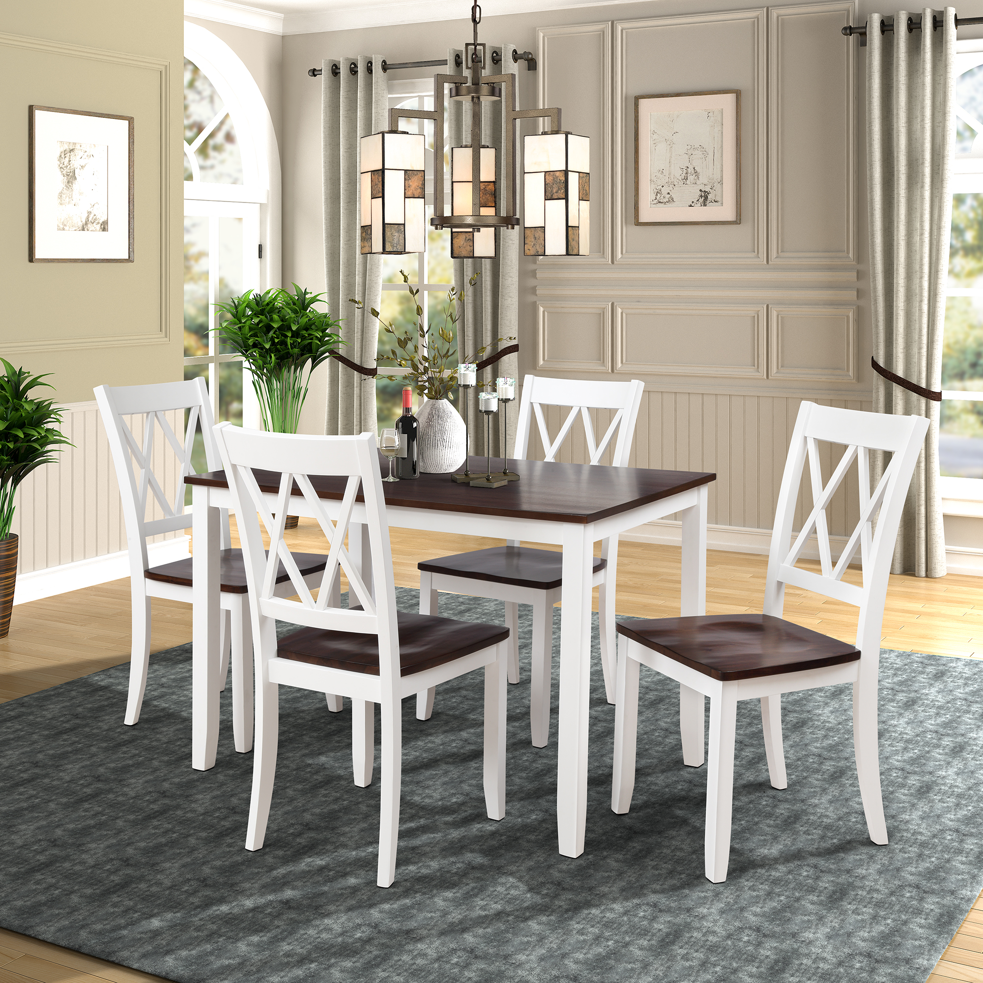 Dining Room Sets Clearance: Clearance!5 Piece Dining Table Set, Modern Kitchen Table