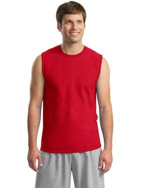 91dce77ba2115 Product Image Gildan 2700 Mens Ultra Cotton Sleeveless T-Shirt -White-Small