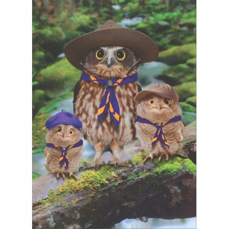 Avanti Press Owl Scout Leader Funny / Humorous Father's Day Card - Father's Day Arts And Crafts