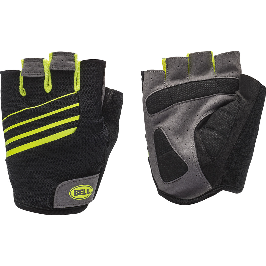 Bell Sports Ramble 500 Half-Finger High Visibility Cycling Gloves, Black/Yellow, Small/Medium