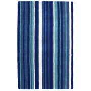 St. Croix Trading Company Hand-tufted Blue Cosmo Striped Wool Rug (5' x 8')