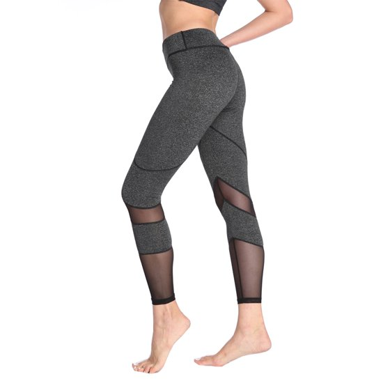 e3ad10ce06 OwnShoe - OwnShoe Women's Yoga Pants Mesh Stitching Athletic Running ...