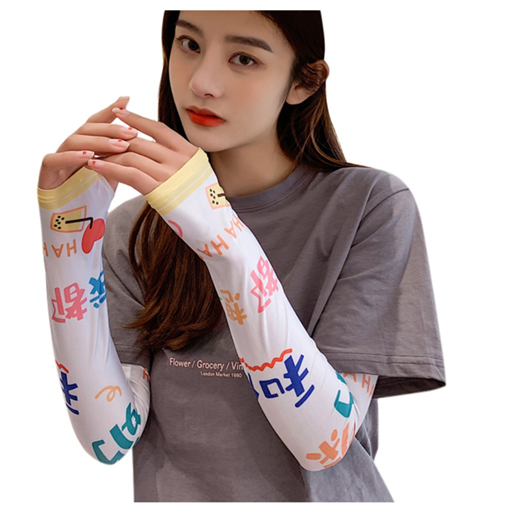 Fashion Outdoor Functional Cool Arm Sleeves Sun Protection UV Cover Half-Finger
