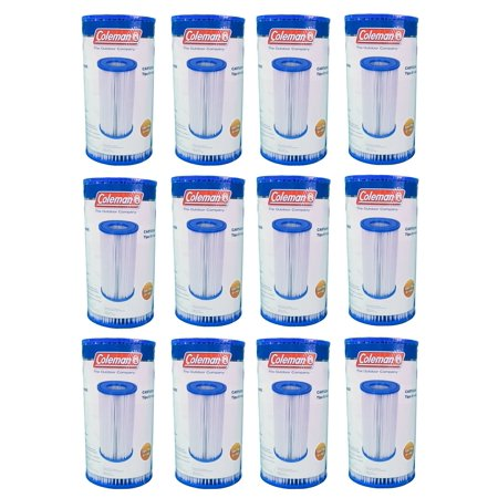 coleman type iii a/c pool filter pump replacement cartridge, 12-pack ...
