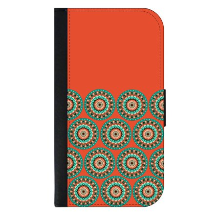 huge selection of eb02b cf4a3 Orange Teal Circles Wallet Phone Case for the iPhone 10/X/XS - iPhone X  Wallet Case - iPhone 10 Wallet Case - iPhone XS Wallet Case
