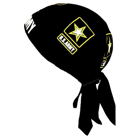 27a157eb0a5b Buy Caps and Hats - Army Doo Rag Cap with Sweatband Black Cotton Durag  Bandana Headwrap Mens Womens - Walmart.com