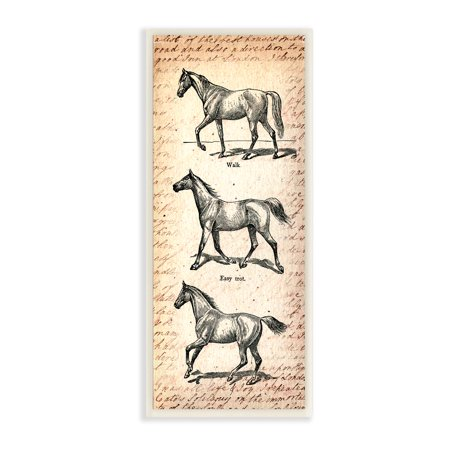 The Stupell Home Decor Collection Vintage Horse Movement Diagram Wall Plaque Art 7 X 0 5 17