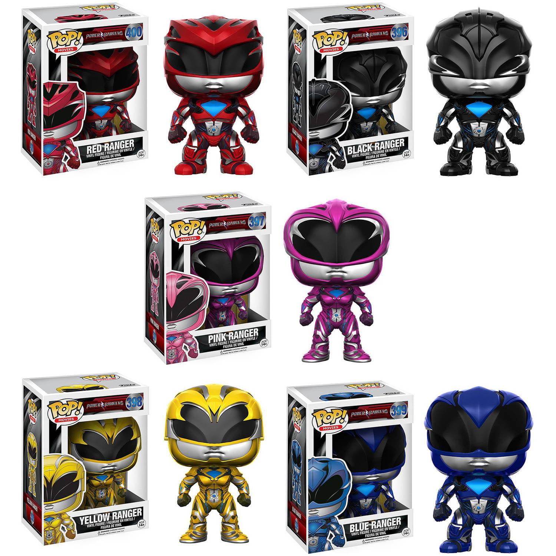 Funko POP! Power Rangers Movie Vinyl Figure Collectors Set with Red Ranger, Black Ranger, Blue Ranger, Pink Ranger and Yellow Ranger G847944001676