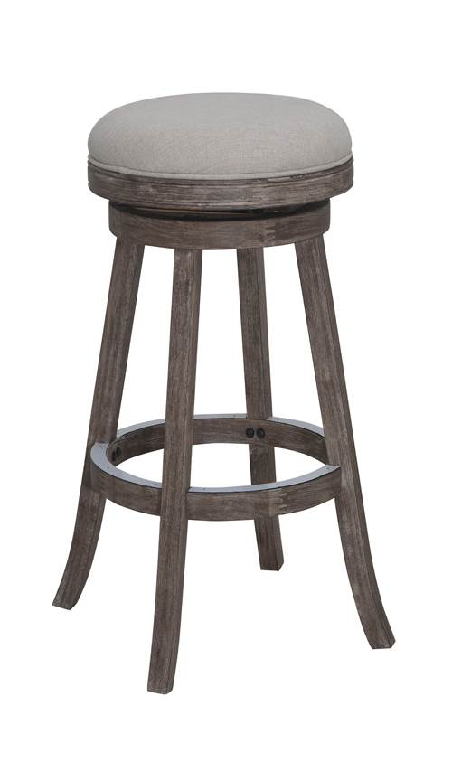 29 in. Wire Brush Swivel Bar Stool in Brown by Boraam