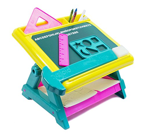 Design and Doodle 15-Piece Creativity Center Tabletop Art Desk