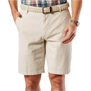 Dockers Mens Perfect Seersucker Casual Walking Shorts