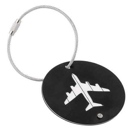 Unique Bargains Traveling Aluminium Alloy Round Shaped Airport Luggage Handbag Name Tag (Shaped Luggage Tag)